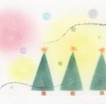 パステルで描く「手作りクリスマスカード教室」