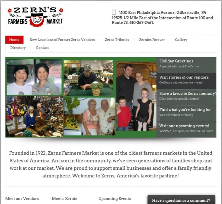 Zern's Farmers Market - Your Startup Guru client