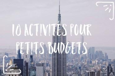 Activités New York petits budgets