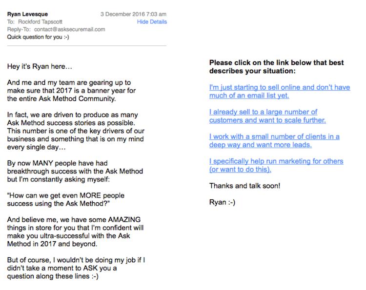 Ryan Segmenting Email