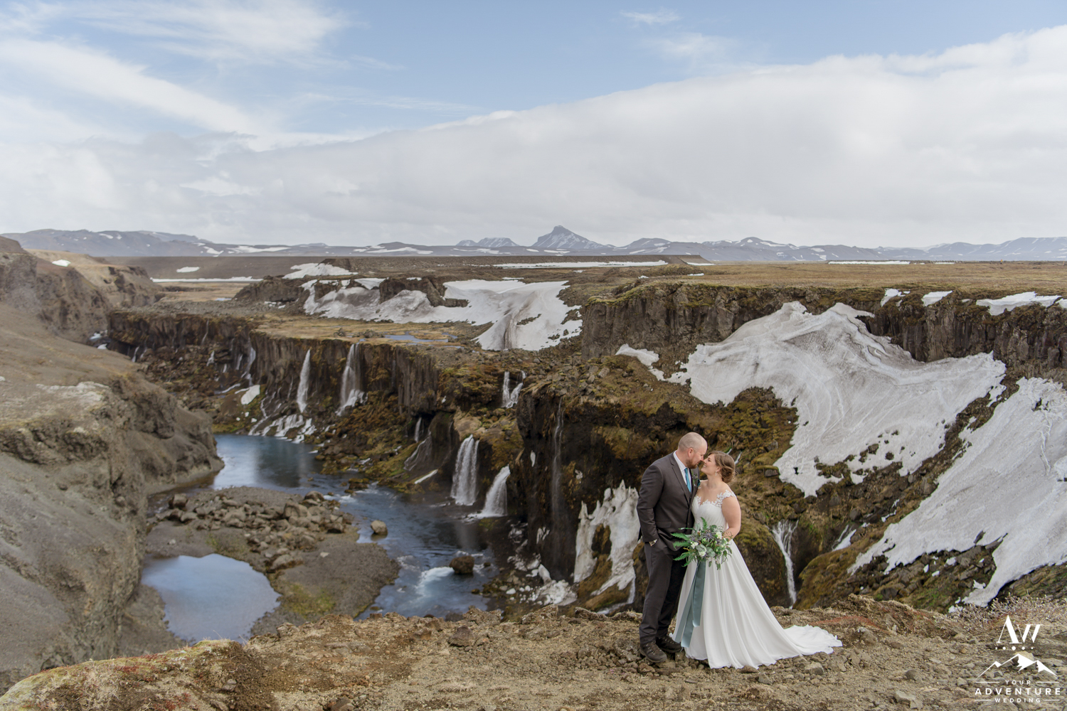 Adventurous Elopement in Iceland Couple looking at each other