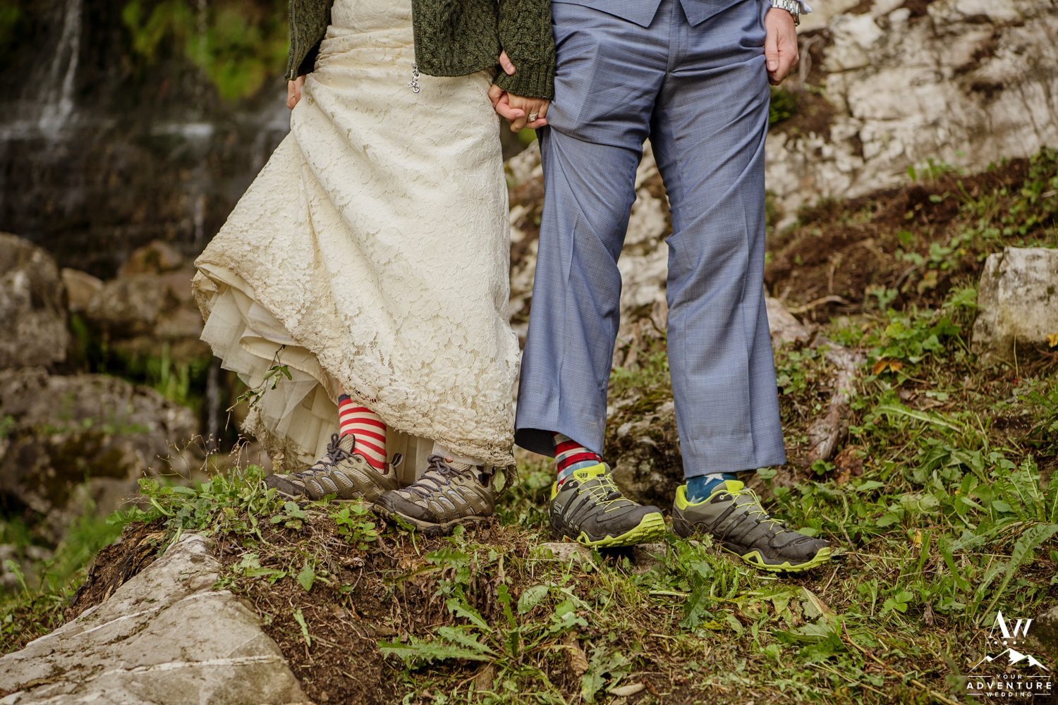 Switzerland Hiking Wedding Couples Boots