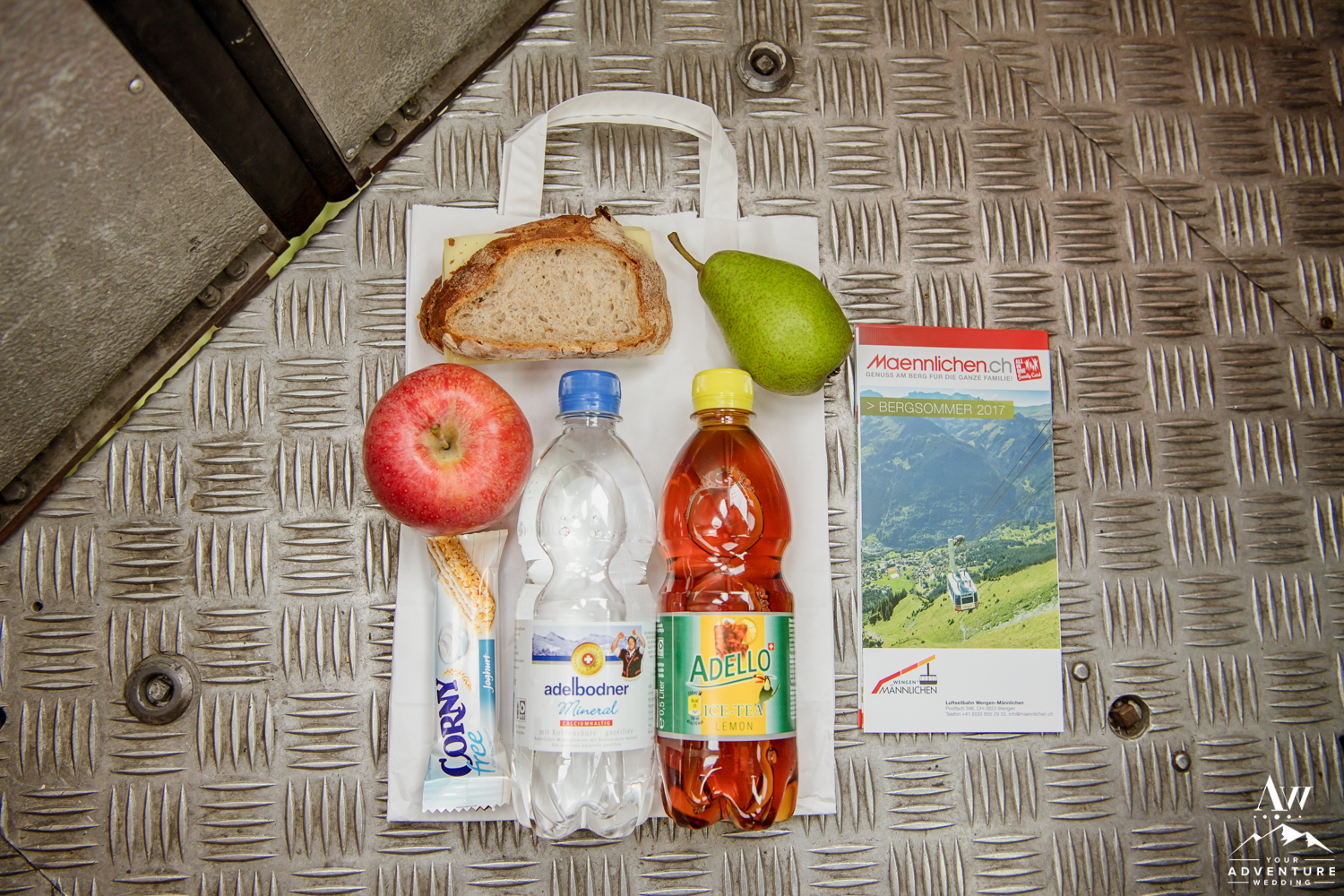 Traditional Swiss Packed Lunch for Adventurous Elopement