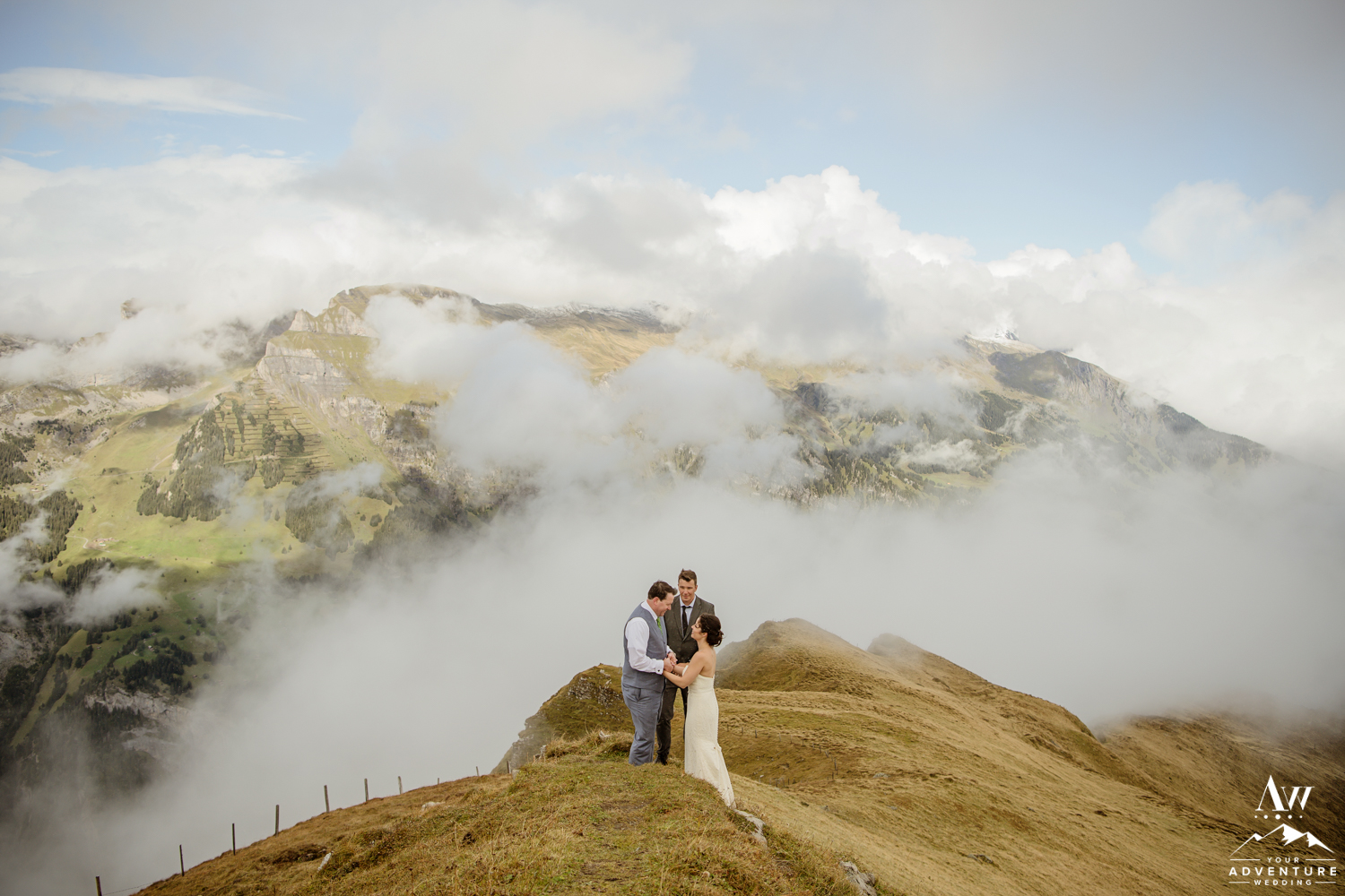 Alps Elopement in Switzerland on Männlichen Summit