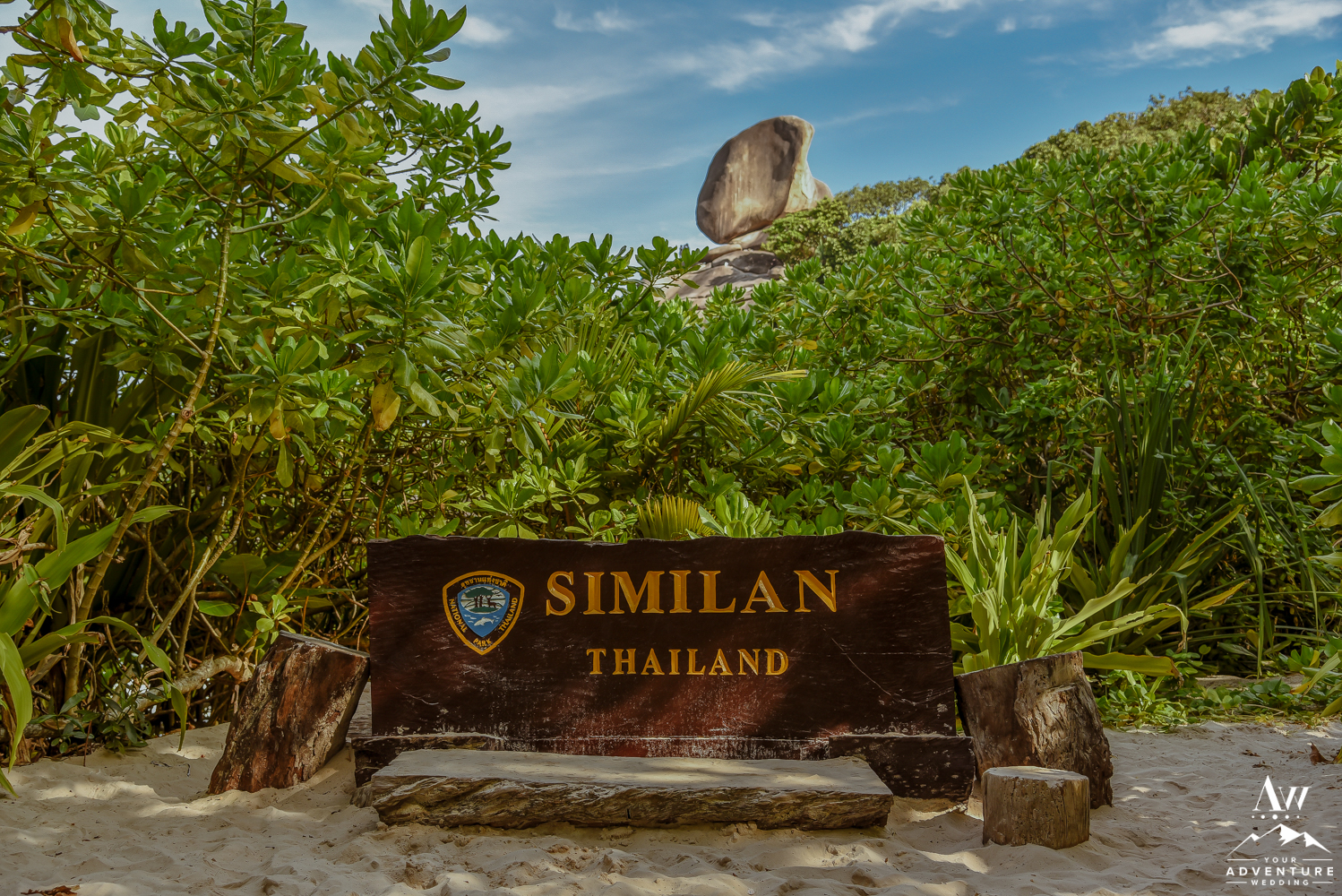 Similan Islands Thailand Island 2 Sign