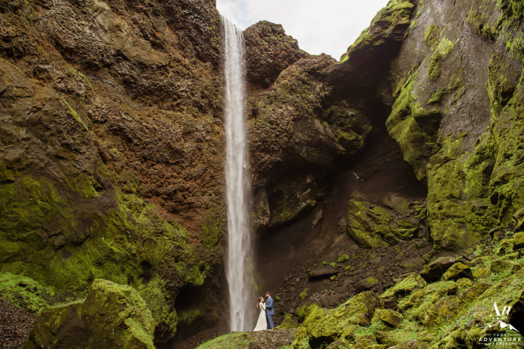 Patagonia elopement beside a waterfall-eloping vs wedding