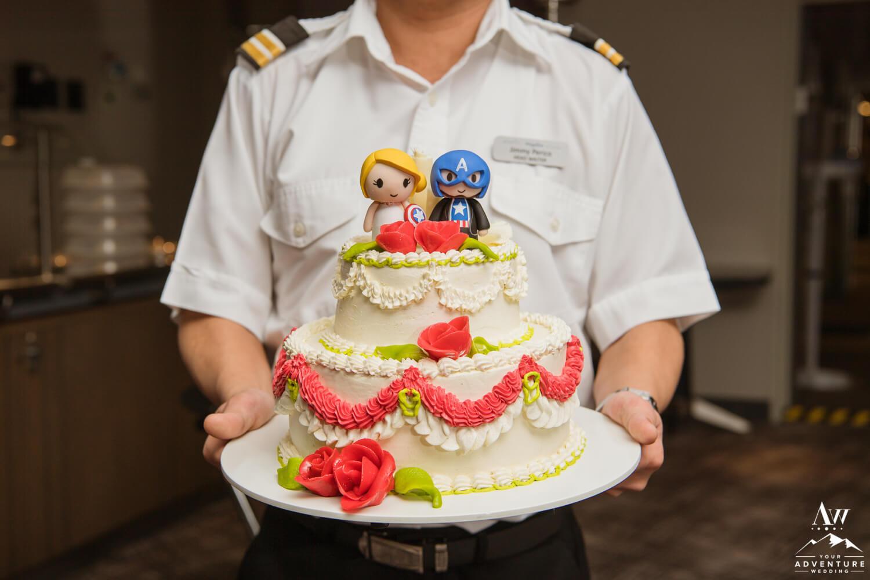 Antarctica Wedding Cake aboard Magellan Explorer