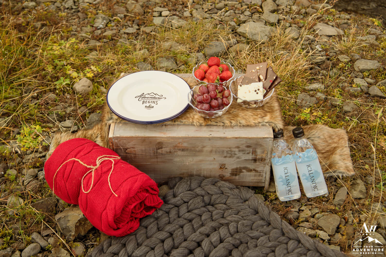 Luxury Picnic during Iceland elopement