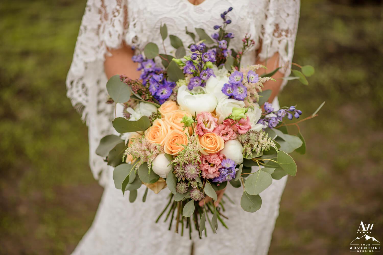 Colorful Elegant Elopement Bouquet