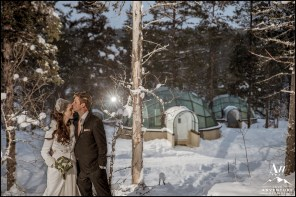 Kakslauttanen Igloo Hotel Wedding Photos Your Adventure Wedding