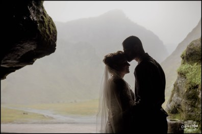 Wedding in a Cave in Iceland