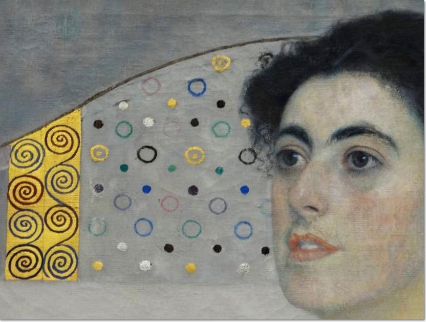 Gustav Klimt Margarethe Wittgenstein, 1905, (Ausschnitt), Bayerische Staatsgemaldesammlungen, Neue Pinakothek, München, Öl auf Leinwand, 190 x 180 cm