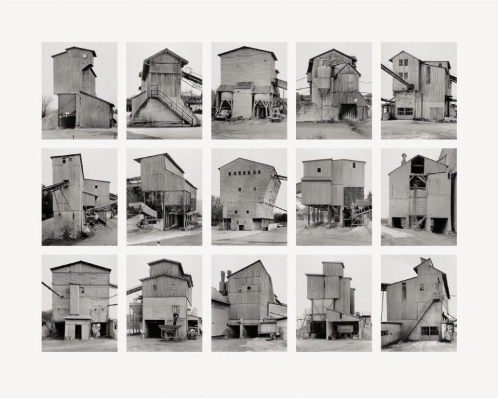 "Bernd und Hilla Becher Kies- und Schotterwerke (Gravel Plants) 2006 Image III from Typologies Digital pigment print (Ditone) on photo paper, 90 x 112 cm (35½ x 44""). Edition of 40, signed and numbered on verso."