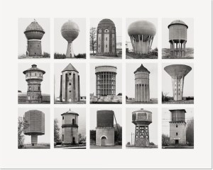 """Bernd und Hilla Becher Wassertürme (Water Towers) 2007 Image IV from Typologies Digital pigment print (Ditone) on photo paper, 90 x 112 cm (35½ x 44""""). Edition of 40, signed """"B. + H. Becher"""" by Hilla Becher and numbered on verso."""