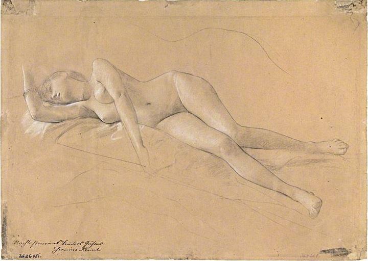 Gustav Klimt Liegende Mänade