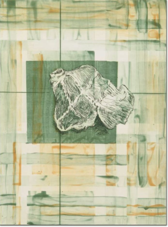 Martin Kippenberger - Burlington meets Burberries II, 1996 Aquatinta, Radierung Gestempelt vom Nachlass Martin Kippenberger (Estate) Motiv: 39,5 x 29,5 cm Papier: 57 x 44 cm Auflage von 24 + 6 AP