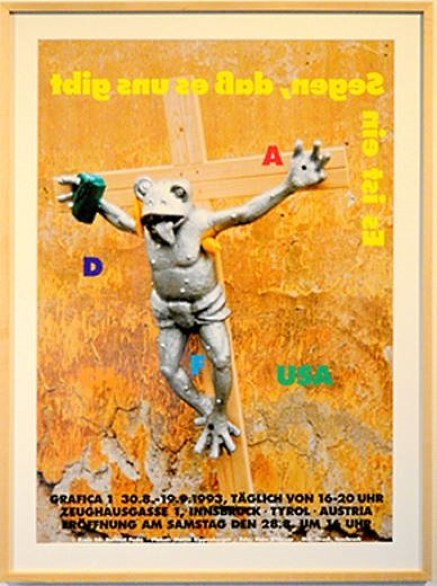 MARTIN KIPPENBERGER, Original Exhibition Poster, Innsbruck, 1993 Offset screenprint 33 x 23 5/8 inches (83.82 x 60 cm)