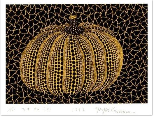 Yayoi Kusama: Pumpkin (Y), 1992, screenprint, framed, size: 28 x 37.5 cm ed. of 150