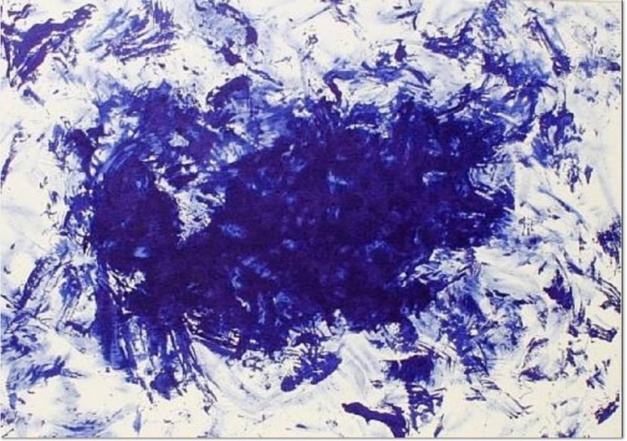 YVES KLEIN, Anthropometrie ant 83, 2000