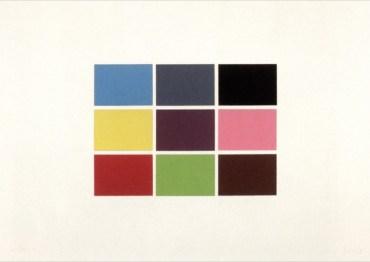 Gerhard Richter: '9 von 180 Farben', 1971, Siebdruck auf Karton, Format: 61.1 cm x 86.5 cm, Werkverzeichnis Editionen CR: 44