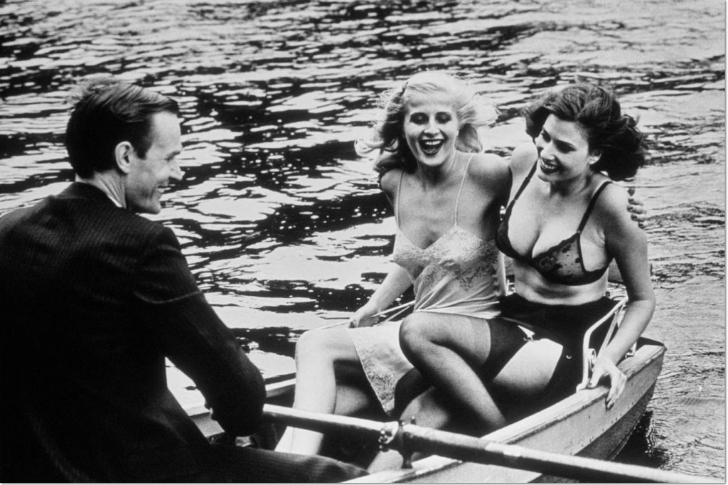 Helmut Newton - Babes in Row Boat