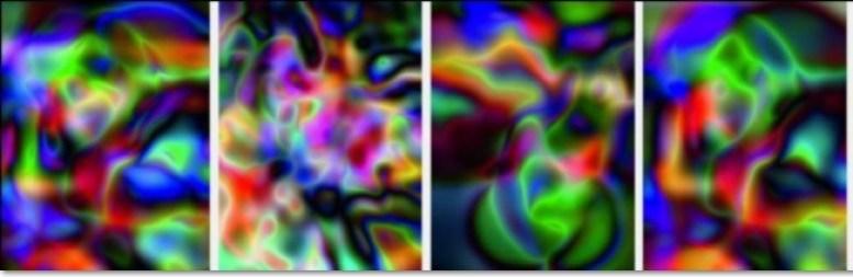 """Thomas Ruff: """"Substrate"""", 2002-2003. 8-teiliger Leparello, Digital Pigment Druck (Ditone) auf Barytpapier, en verso nummeriert und handsigniert von Thomas Ruff, Gesamtformat: 32 x 200 cm, limitierte Auflage: 75 Exemplare"""