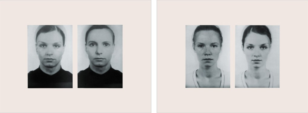"Thomas Ruff - Andere Doppelportraits 1996 2 silkscreens, each print 72 x 104 cm (28 x 40""), each signed and numbered. Edition of 40."