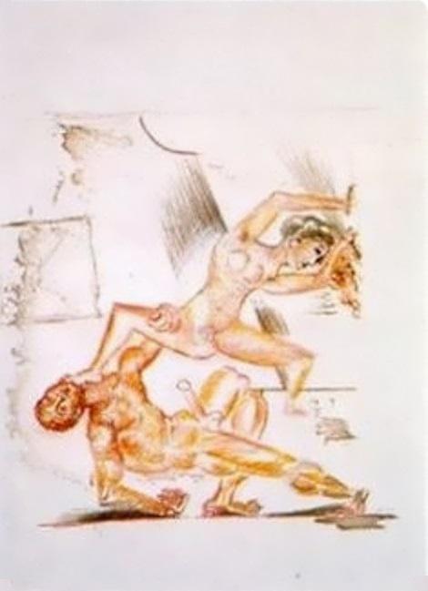 Pablo Picasso Le Couple I, 1917, Gouache sur papier, 20 x 28 cm, Privatsammlung, London
