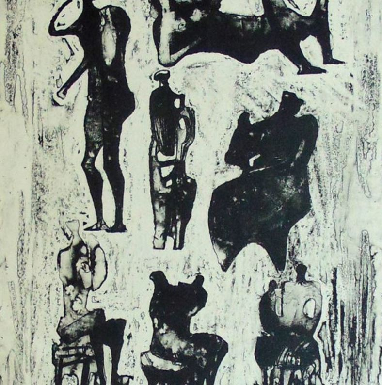 Henry Moore - Seven Sculptural Ideas, 1973 Technique: Original Hand Signed and Hand Numbered Lithograph on Japan Ancien Paper Paper size: 75.7 x 53.3 cm. / 29.8 x 21 in. Image size: 33.6 x 25.8 cm / 13.2 x 10.2 in.