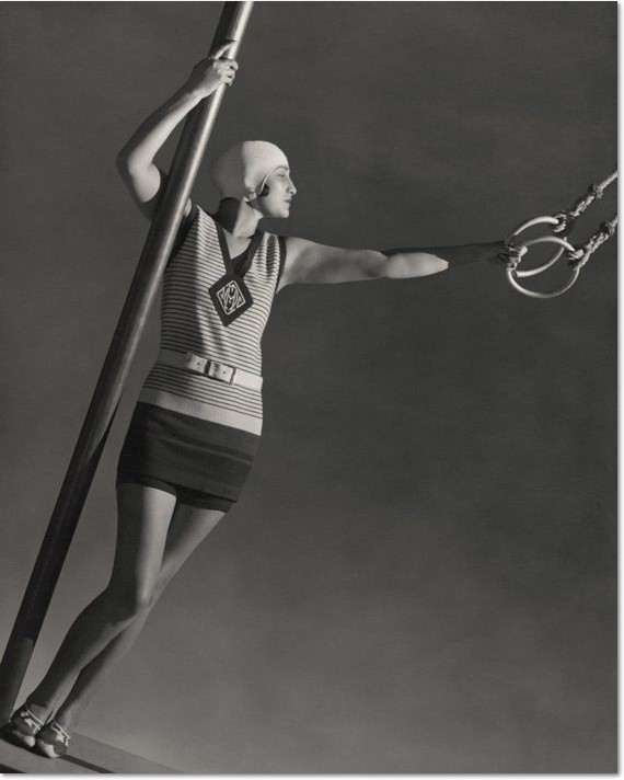 "George Hoyningen-Huene: ""Wearing wool swimsuit"", 1930"