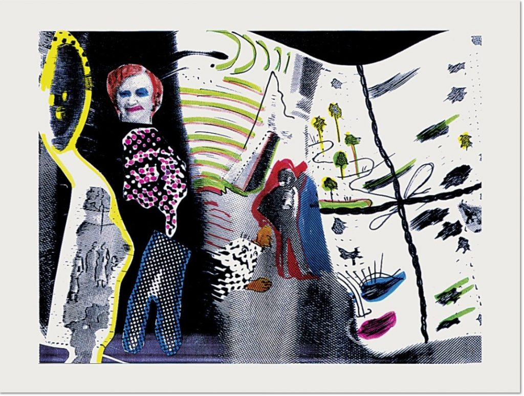 Sigmar Polke - S. schmeckt Pfirsich von H., 1996, Grano lithograph, embossing, on rag paper, 59 x 77 cm (23¼ x 30¼ in.), signed and numbered. Edition of 60 + X.