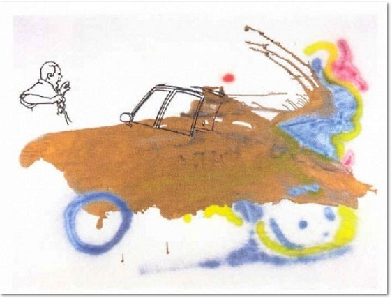 Sigmar Polke - An die Macht der Wünsche glauben, Serigraph on board, board size 55 x 75 cm., image size 48.4 x 64.5 cm., edition 50, signed and numbered, 2008