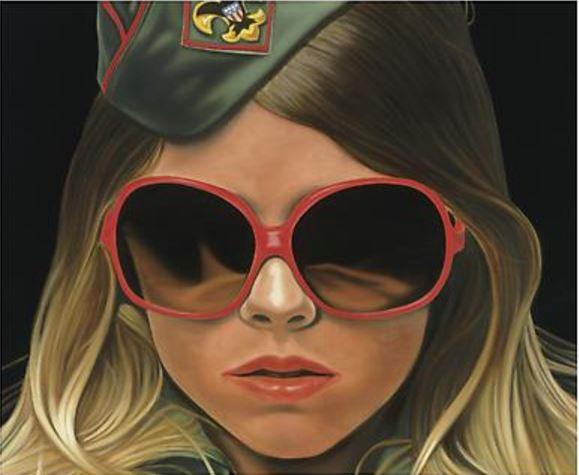 """Richard Phillips: """"Scout 1"""", 2016, Giclee Leinwanddruck auf Keilrahmen, nach dem gleichnamigen Ölgemälde von1999,Private Collection, Format:56 x46 cm / 93 x76 cm / 114 x 94 cm."""