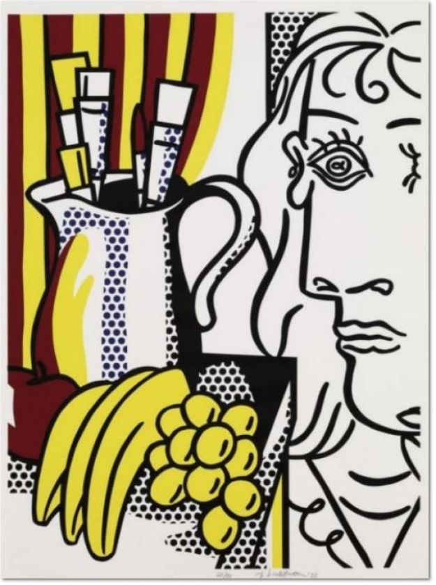 Roy Lichtenstein, STILL LIFE WITH PICASSO Description: Still Life with Picasso 1973 30 x 22 inches Edition of 90