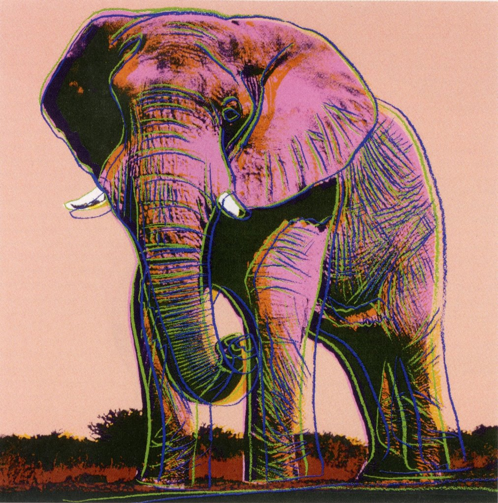 Andy Warhol, Endangered Species AFRICAN ELEPHANT, 1983, Silkscreen, not signed and numbered, Paper size 38 x 38 inch, mages size 38 x 38 inch, very good/excellent condition. Provenance: Private Collection, New York.