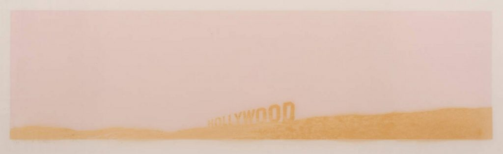 Edward Ruscha Pepto-Caviar Hollywood 1970, Screenprint Sheet size: 15 x 42 3/8 inches Printer: Cirrus Editions Publisher: Cirrus Editions, Los Angeles Edition size: 50, plus proofs Catalogue raisonné: Engberg 42 Signed, dated, and numbered in pencil, lower margin