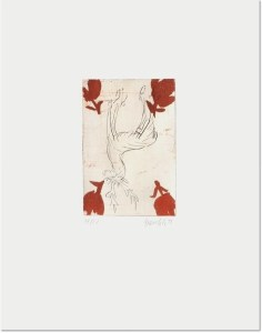 Georg Baselitz: 'Hirsch (Deer)', 1999, etching, signed and numbered in pencil, edition of 20, paper size : 23 x 18 in (58 x 45 cm), image size : 9 x 6 in (23 x 16 cm).
