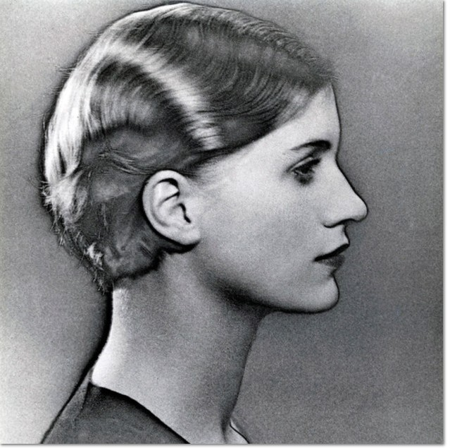 Man Ray - Lee Miller, 1930, profile portrait woman head solarization , Album 20-34, p 52