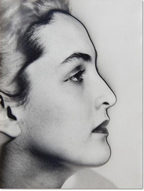 Meret Oppenheim, solarized portrait, 1933