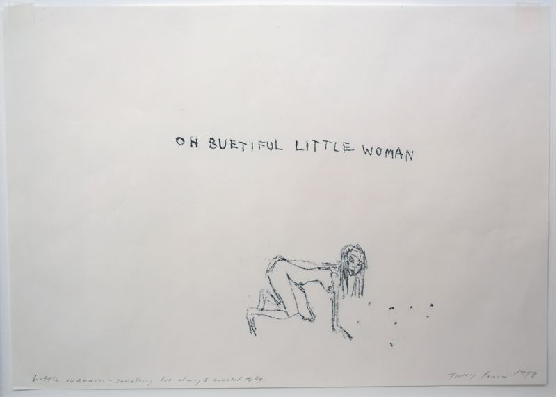 Tracey Emin Little Woman - Something I always wanted to be 1998 monoprint cm 30 x 42 (11.8 x 16.5 in.)