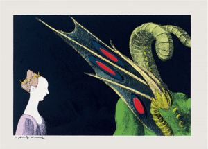 Andy Warhol: 'Details of Renaissance Paintings', 1984, (Paolo Uccello, St. George and the Dragon). Set of 4 screenprints on rag paper, each print 81 x 112 cm (32 x 44 in.), each signed and numbered. Edition of 50.