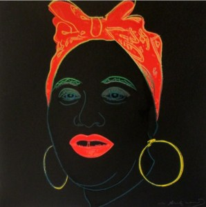 Andy Warhol: 'Mammy (FS II.262)' 1981, screenprint, signed, edition of 200, size: 38 x 38 in