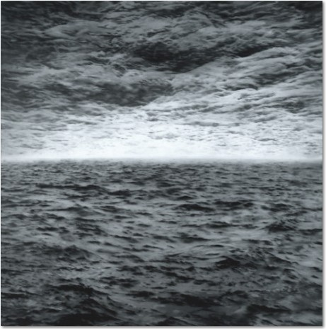 """Gerhard Richter: """"Seestück, (See-See)"""", Offset print after the oil painting of the same title from 1970, Catalogue Raisonné: 244, size: 60 x 60 cm"""