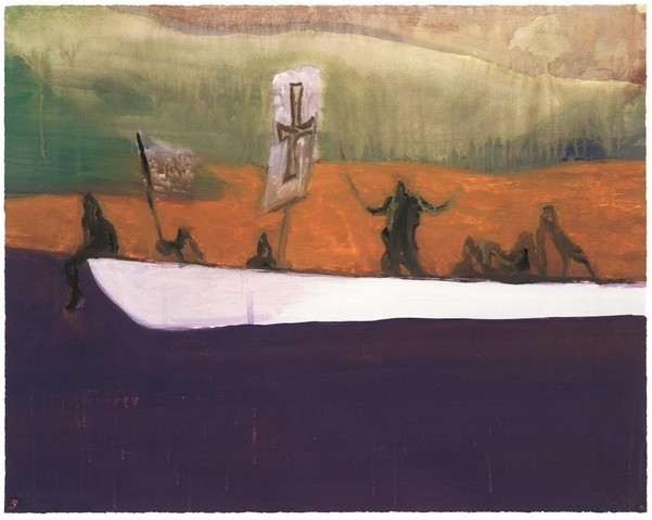 "Peter Doig: ""Canoe"", 2009, etching and aquatinta, handsigned, numbered, edition of 500, size: 58.9 cm x 74.4 cm"