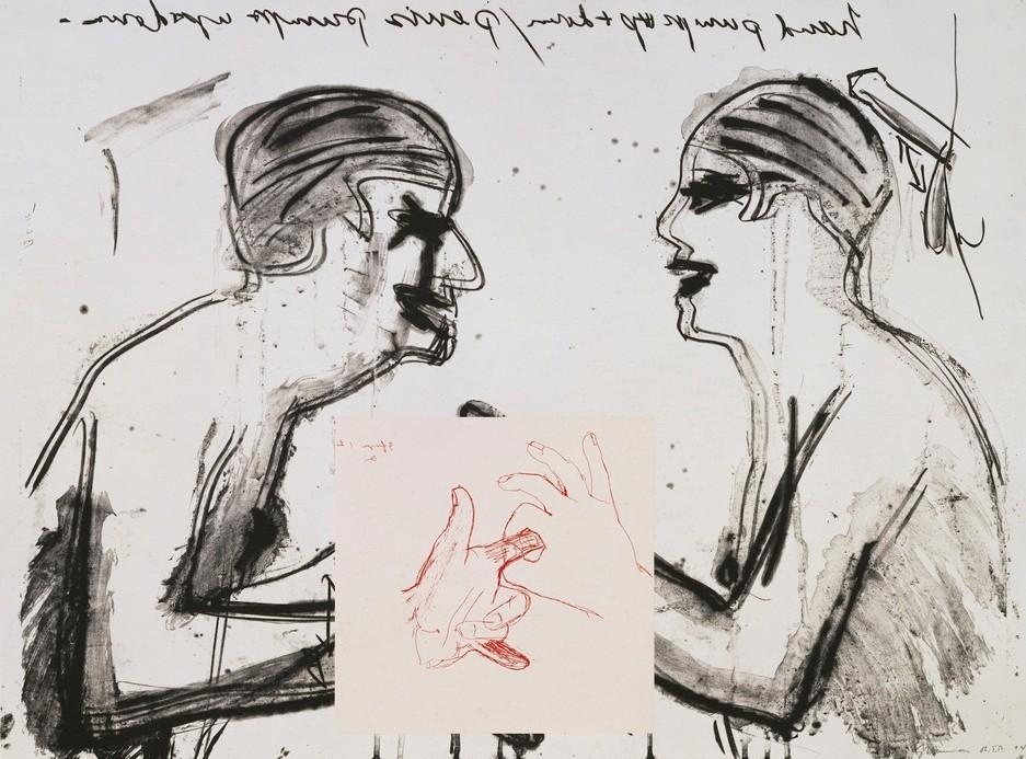 "Bruce Nauman - Untitled, 1994, 4 color lithograph/screenprint 30"" x 40"" (76.20 x 101.60 cm) Edition of 50"