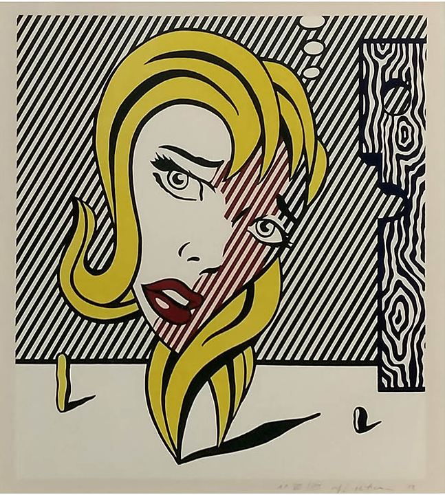 Roy Lichtenstein: 'Blonde', 1978, Lithograph on Arches paper, from the Surrealist Series (C.153), signed, numbered, and dated in pencil, lower right, image Size: 21.75 x 19.125 in, total size: 29.75 x 27 in. We offer one of the E.A. This artwork is in excellent condition.