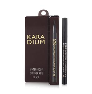 Bút Dạ Kẻ Mắt Karadium Waterproof Brush Eyeliner Pen Black
