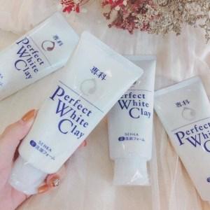 Sữa Rửa Mặt Tạo Bọt Chiết Xuất Đất Sét Trắng Senka Perfect White Clay 120g