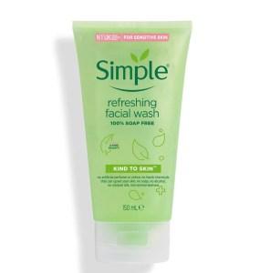 Sữa Rửa Mặt Dịu Nhẹ Cho Da Nhạy Cảm Simple Refreshing Facial Wash Dạng Gel