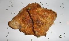 This baked fried chicken looks just like traditional fried chicken.